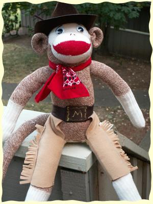 Cowboy Sock Monkey