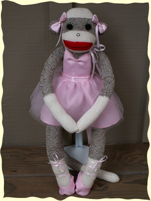 Ballerina Sock Monkey